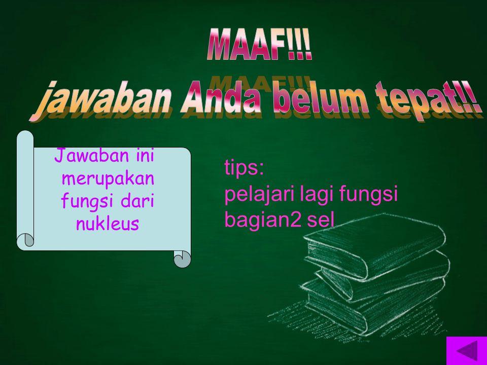 tips: pelajari lagi fungsi bagian2 sel