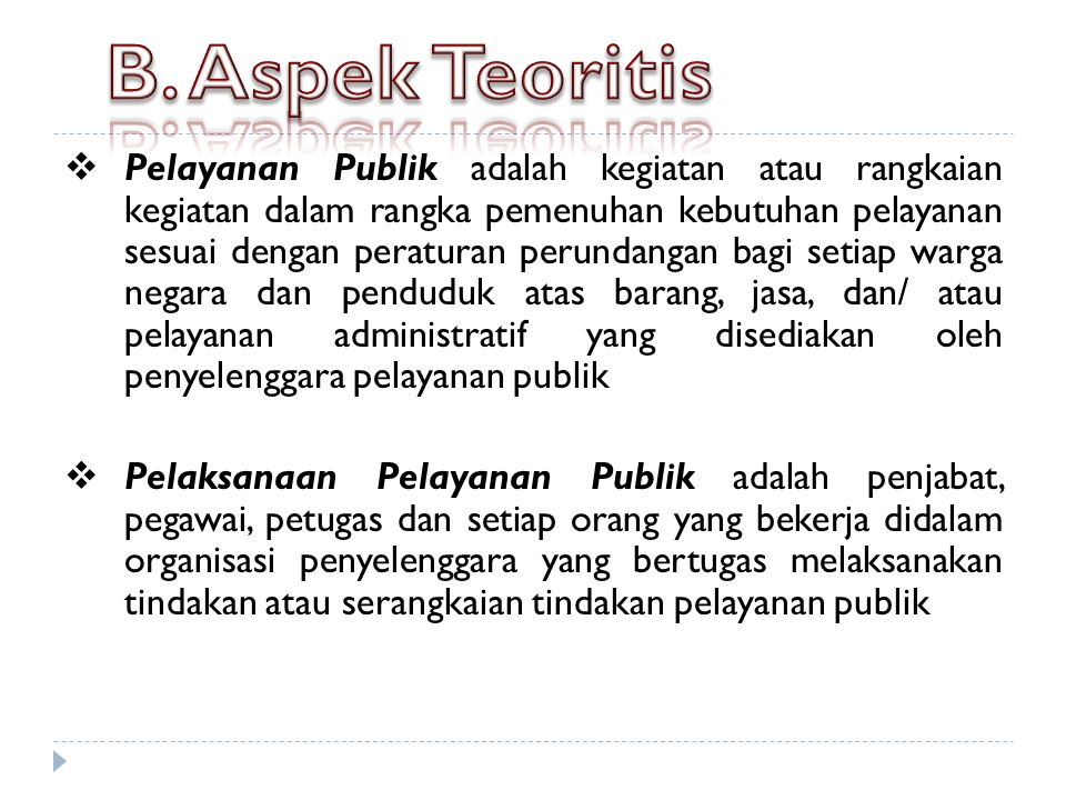 B. Aspek Teoritis