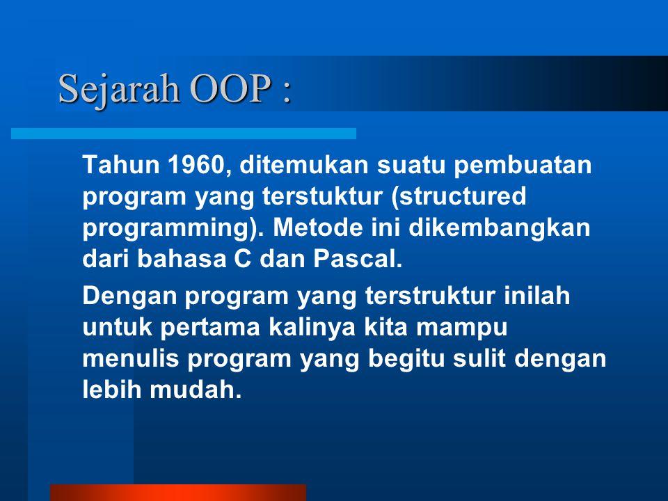 Sejarah OOP :