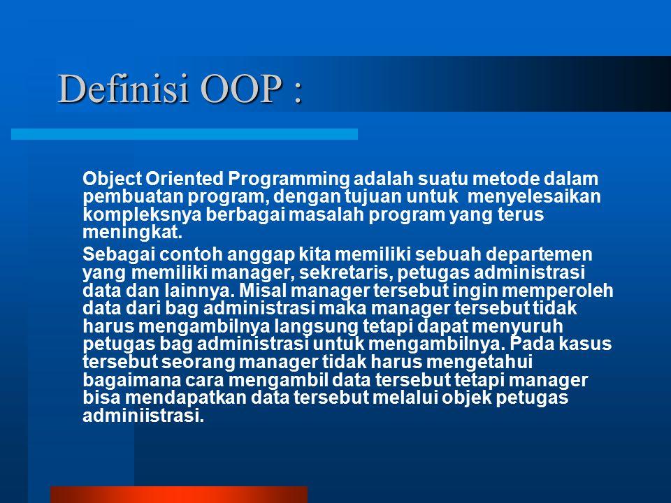 Definisi OOP :