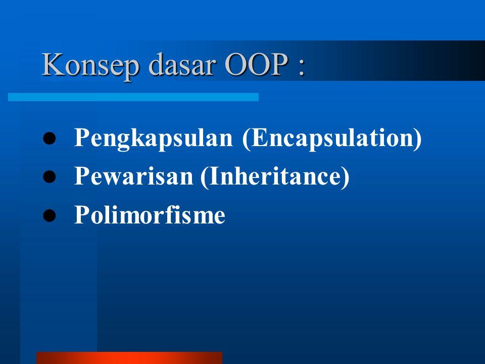 Konsep dasar OOP : Pengkapsulan (Encapsulation)
