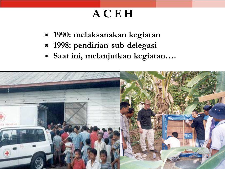 A C E H 1990: melaksanakan kegiatan 1998: pendirian sub delegasi