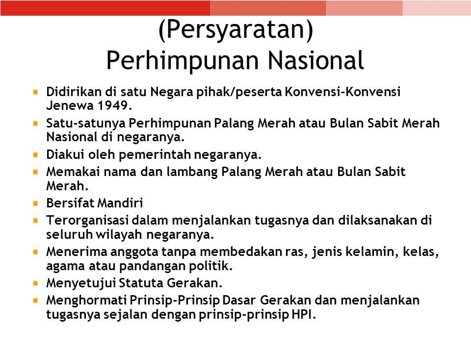 (Persyaratan) Perhimpunan Nasional
