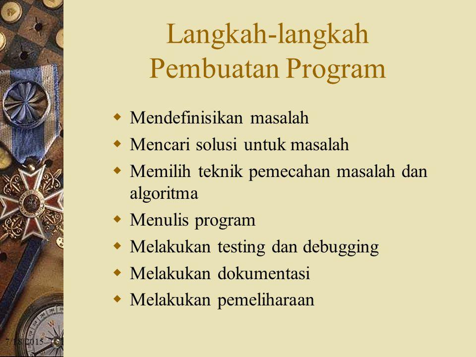 Langkah-langkah Pembuatan Program