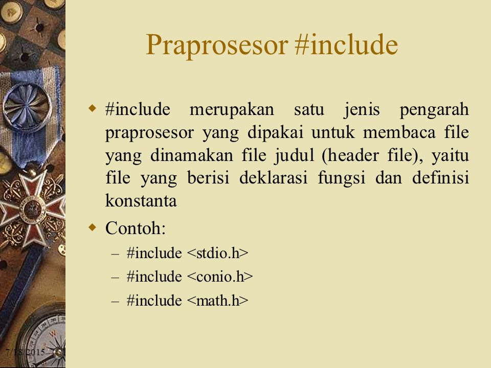 Praprosesor #include
