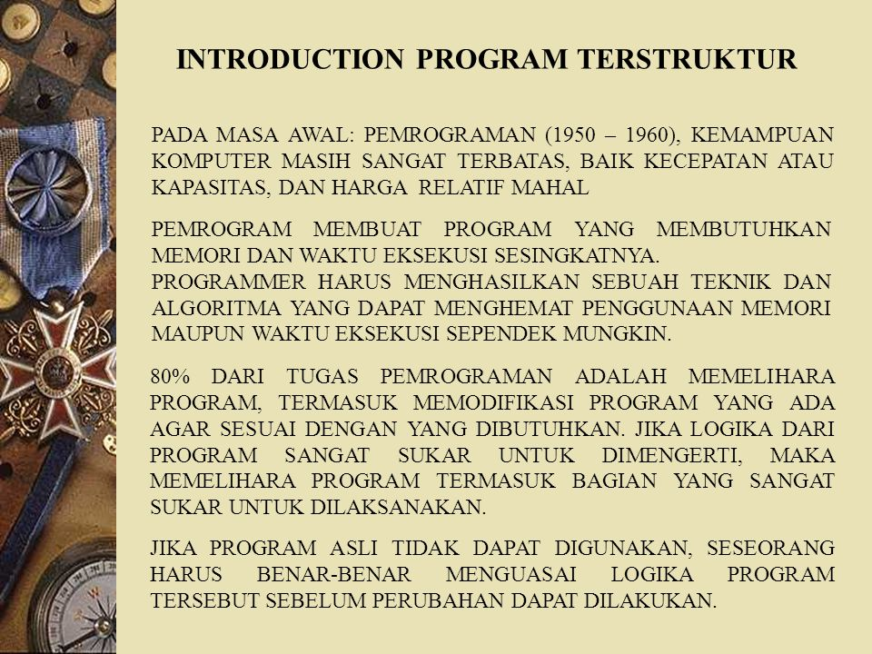 INTRODUCTION PROGRAM TERSTRUKTUR