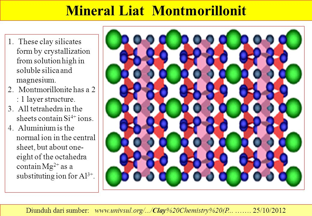 Mineral Liat Montmorillonit