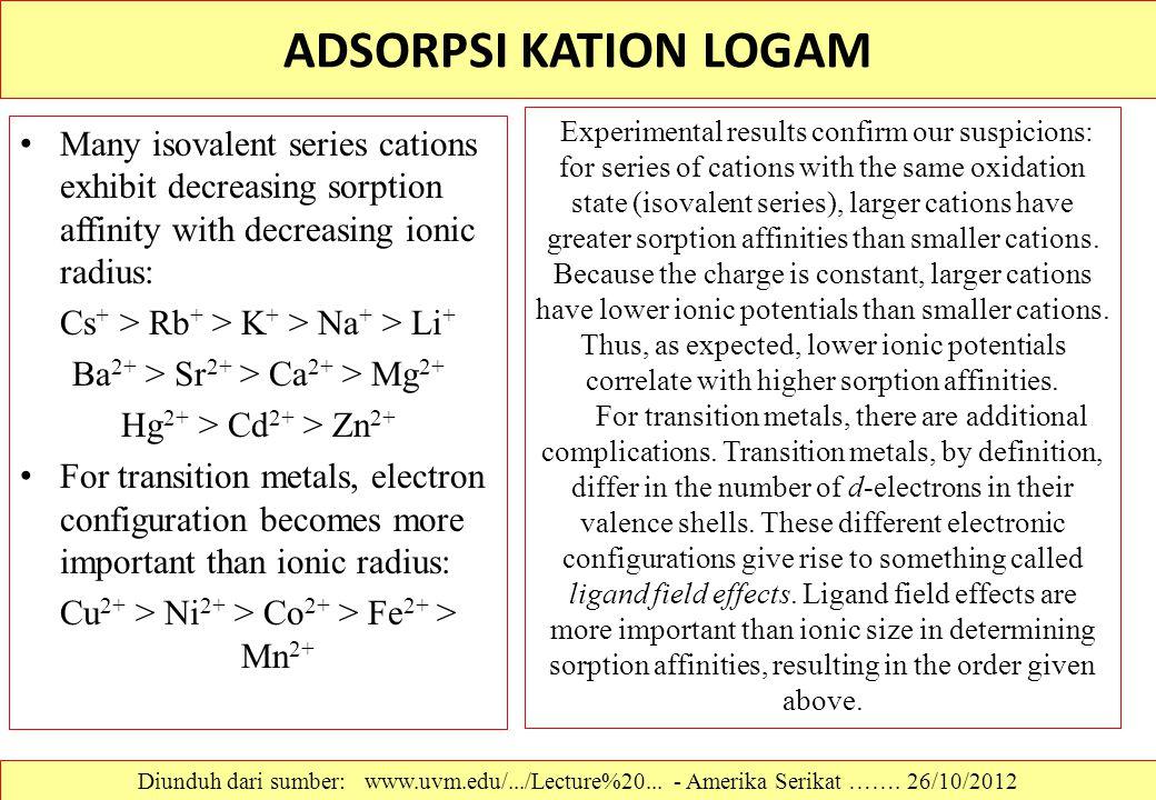 ADSORPSI KATION LOGAM