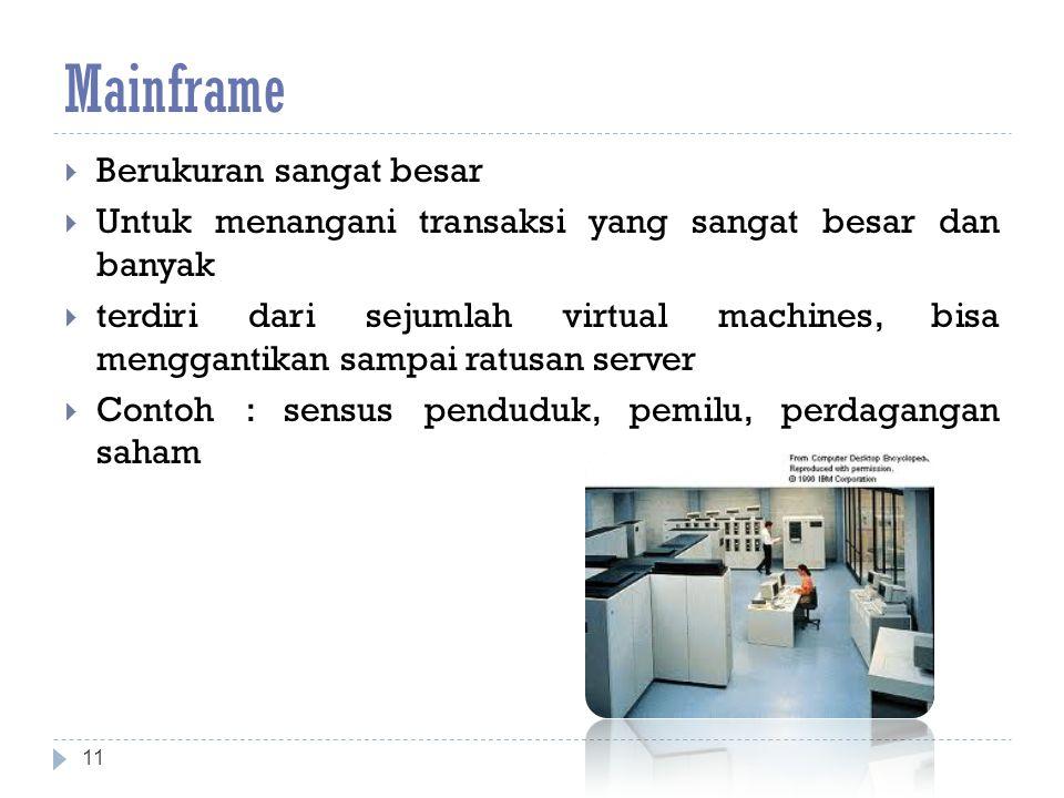 Mainframe Berukuran sangat besar