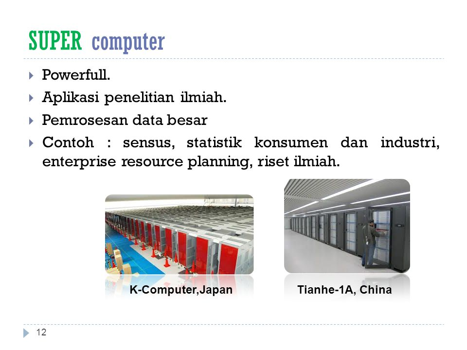 SUPER computer Powerfull. Aplikasi penelitian ilmiah.