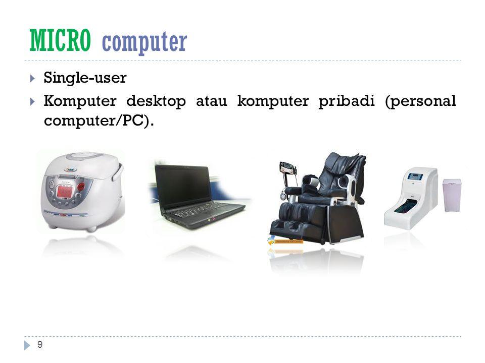MICRO computer Single-user