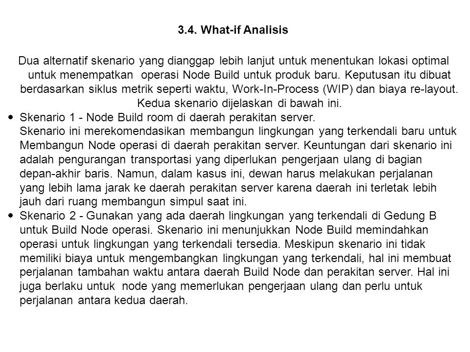 3.4. What-if Analisis