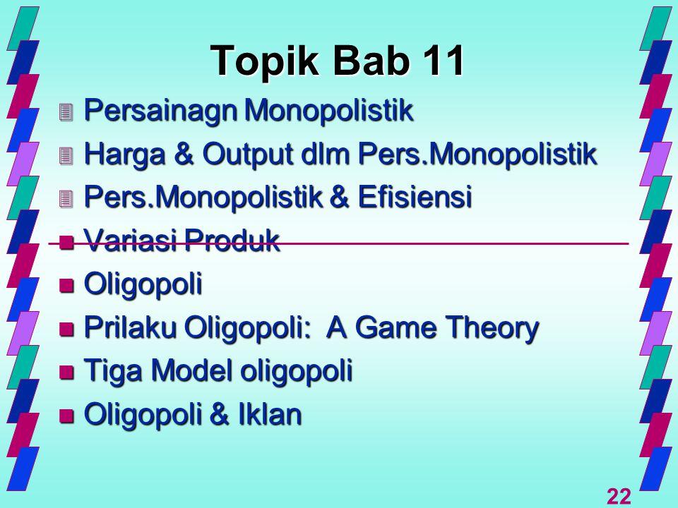 Topik Bab 11 Persainagn Monopolistik