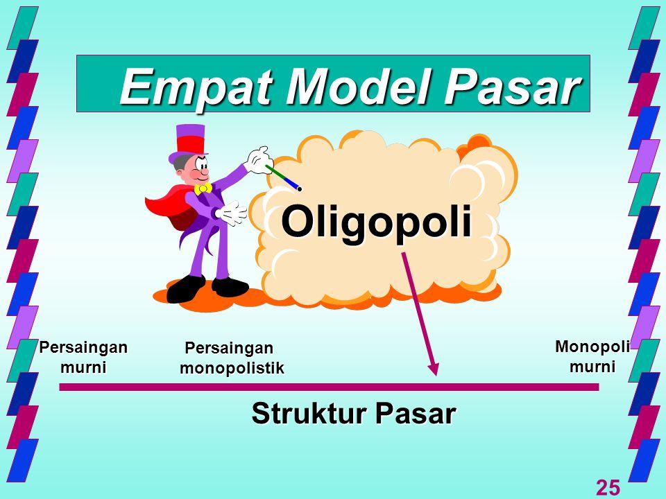 Empat Model Pasar Oligopoli Struktur Pasar Persaingan Persaingan
