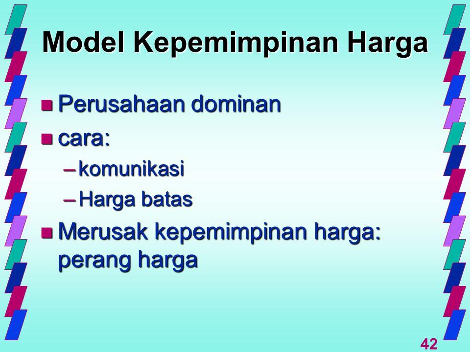 Model Kepemimpinan Harga