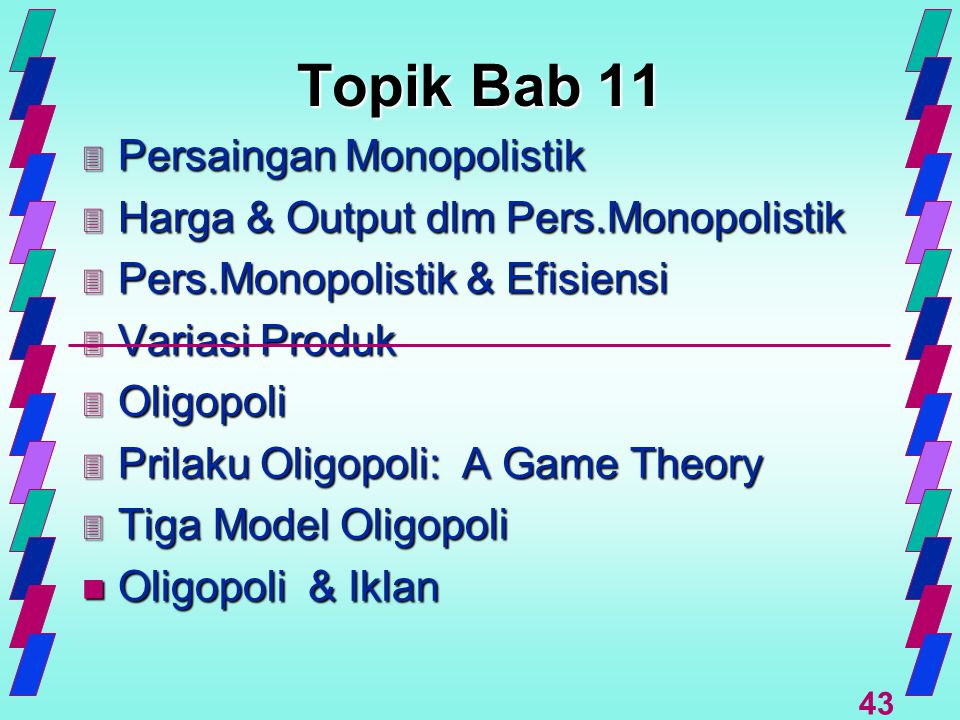 Topik Bab 11 Persaingan Monopolistik