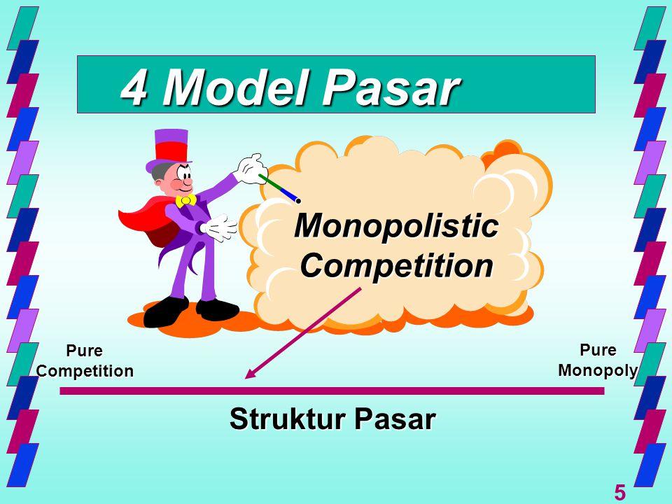 4 Model Pasar Monopolistic Competition Struktur Pasar Pure Pure