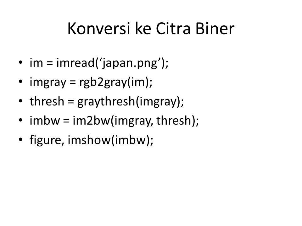 Konversi ke Citra Biner