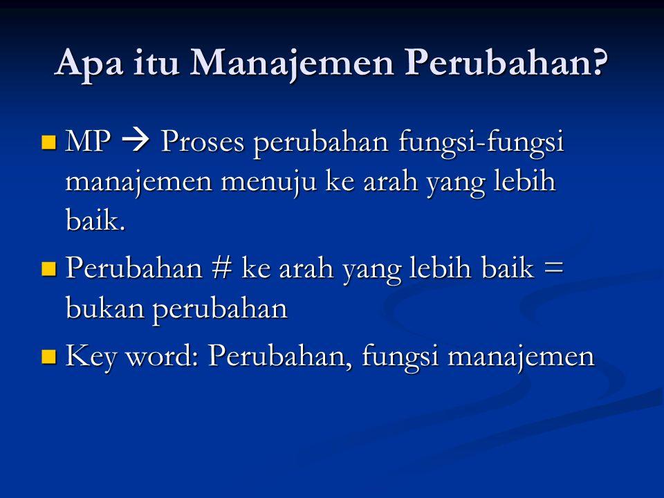 Apa itu Manajemen Perubahan