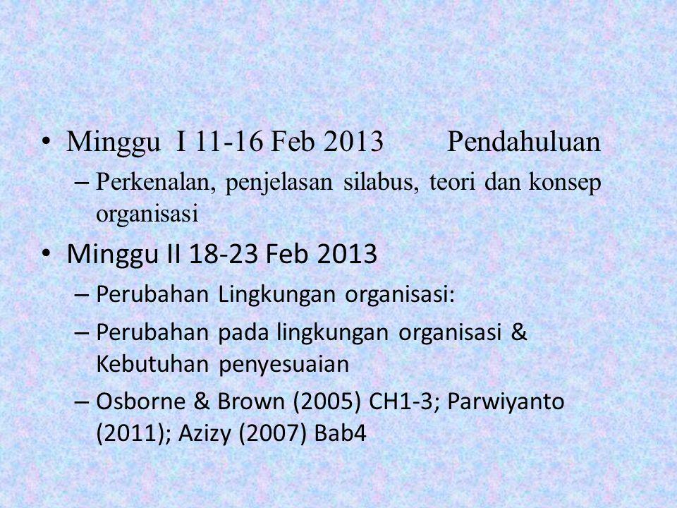Minggu I 11-16 Feb 2013 Pendahuluan