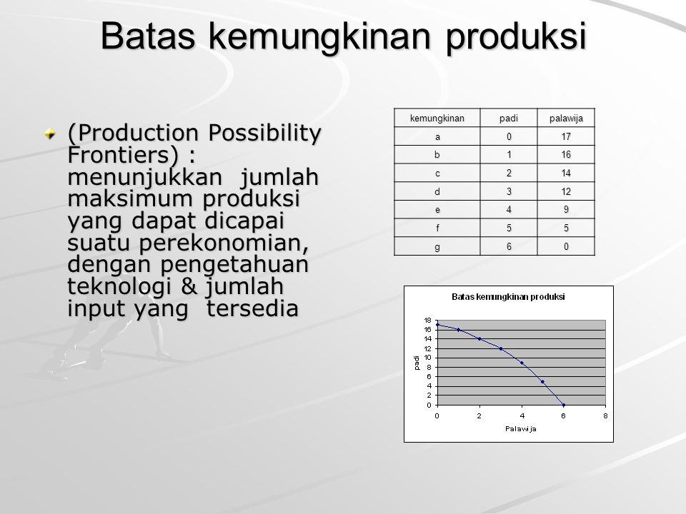 Batas kemungkinan produksi