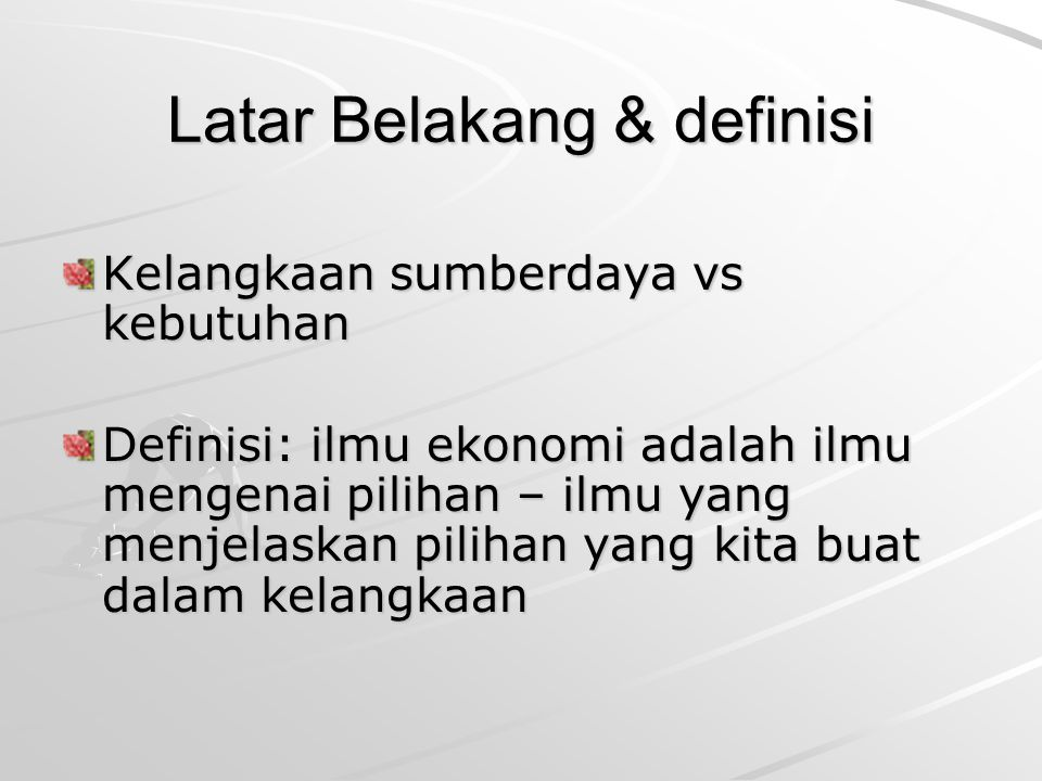 Latar Belakang & definisi