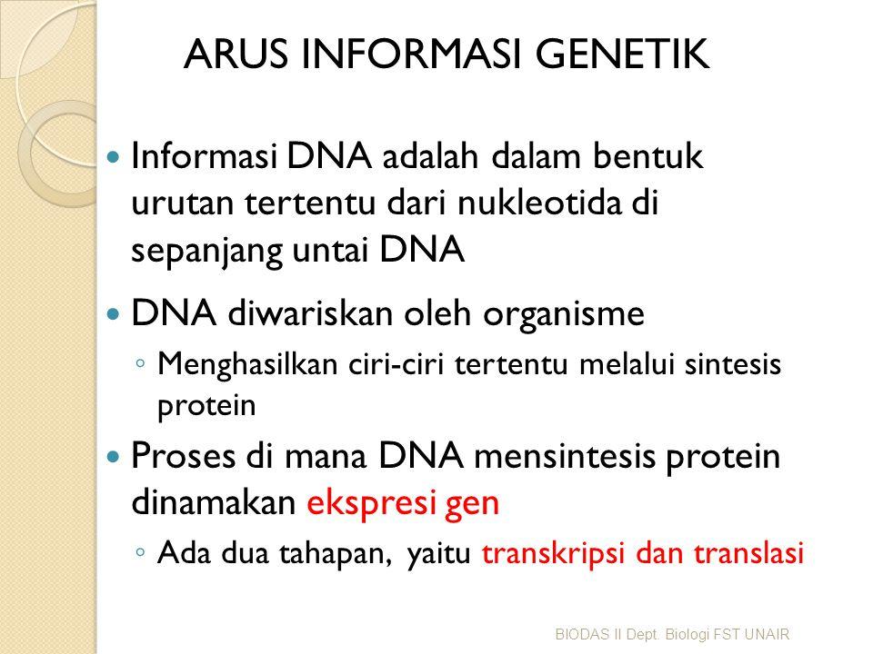 ARUS INFORMASI GENETIK