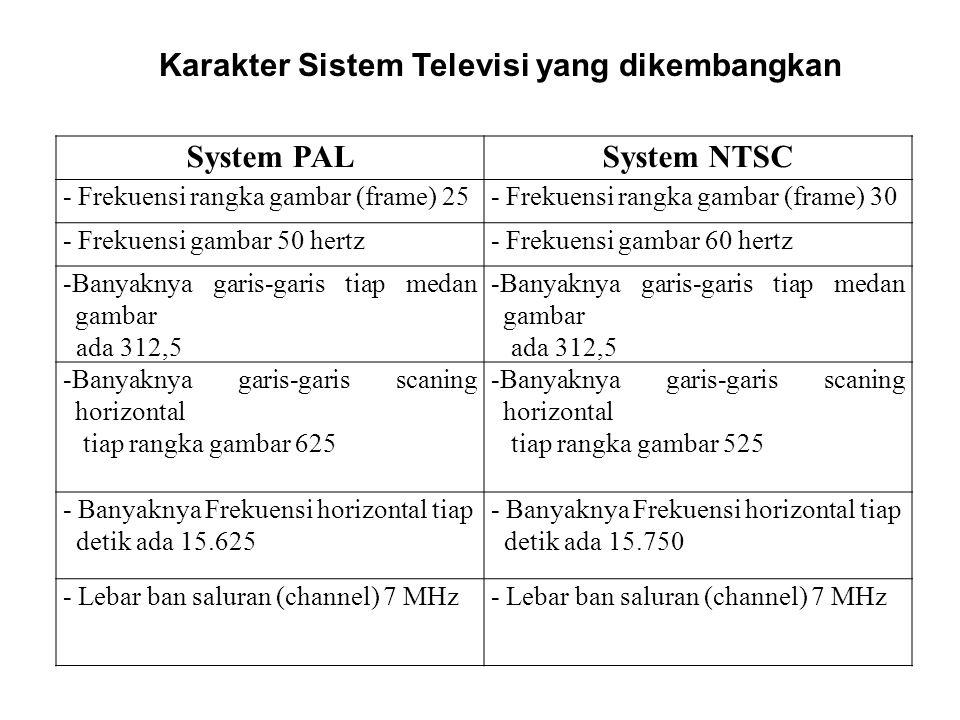 Karakter Sistem Televisi yang dikembangkan