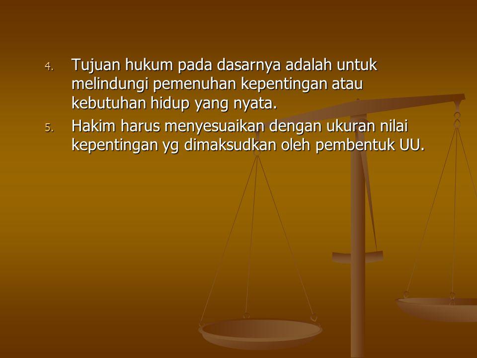 Tujuan hukum pada dasarnya adalah untuk melindungi pemenuhan kepentingan atau kebutuhan hidup yang nyata.