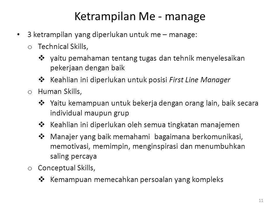 Ketrampilan Me - manage