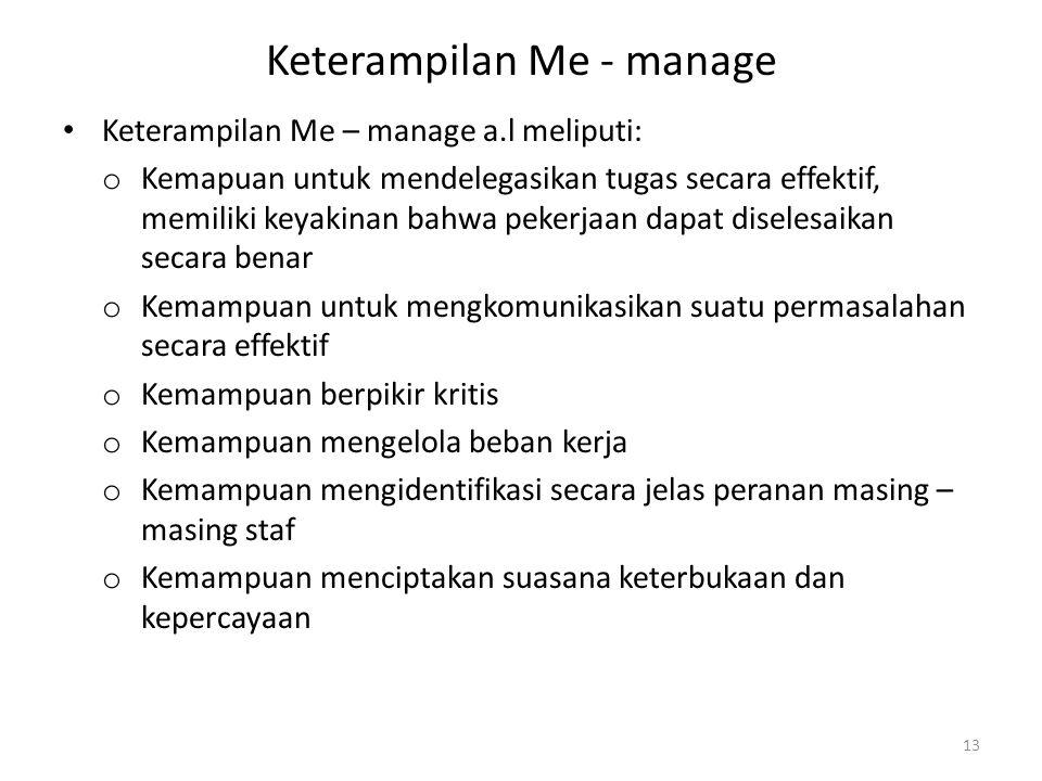 Keterampilan Me - manage
