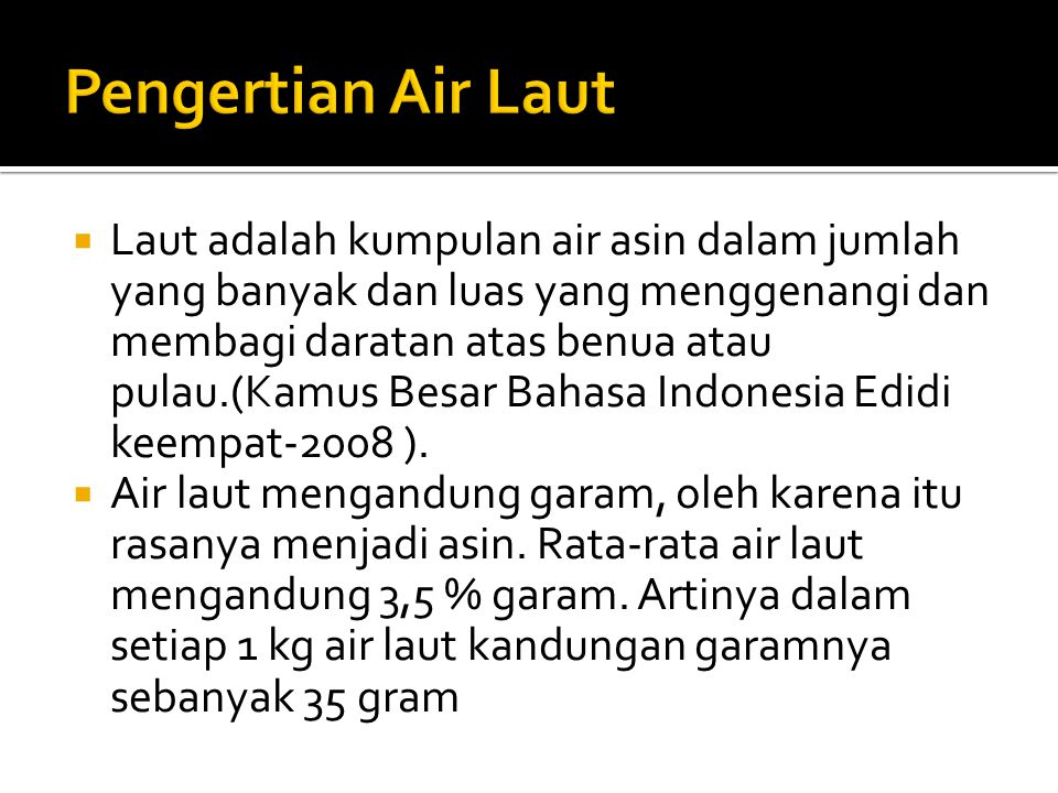 Pengertian Air Laut