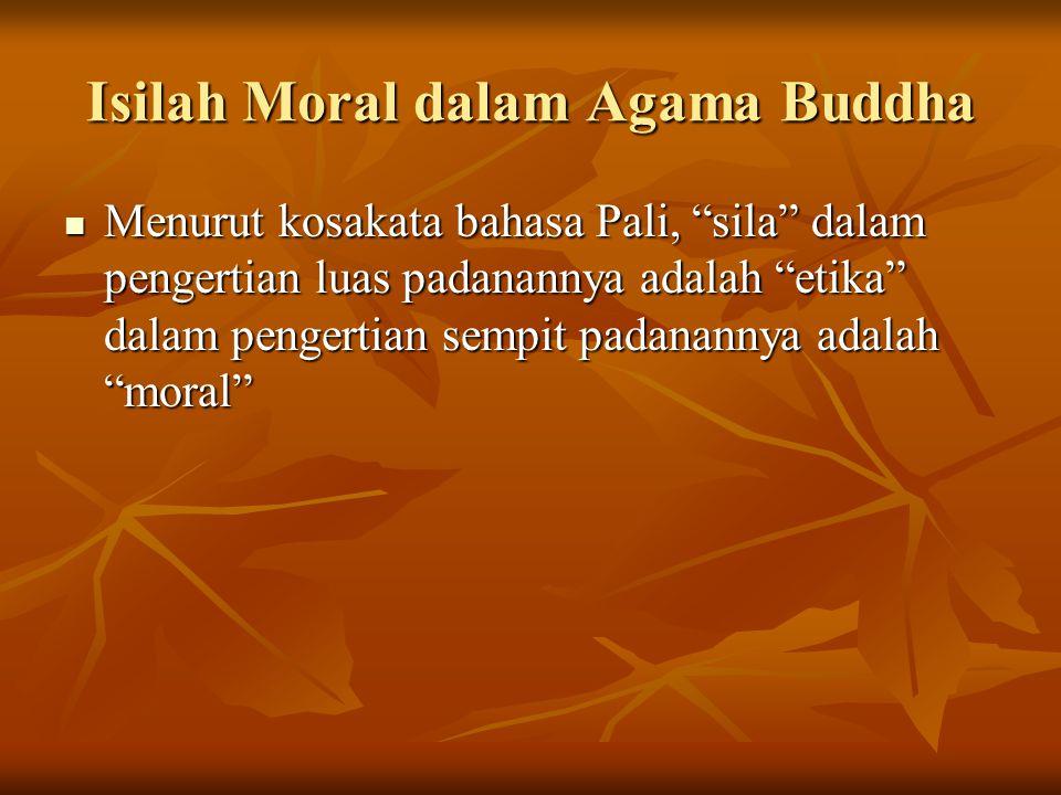 Isilah Moral dalam Agama Buddha