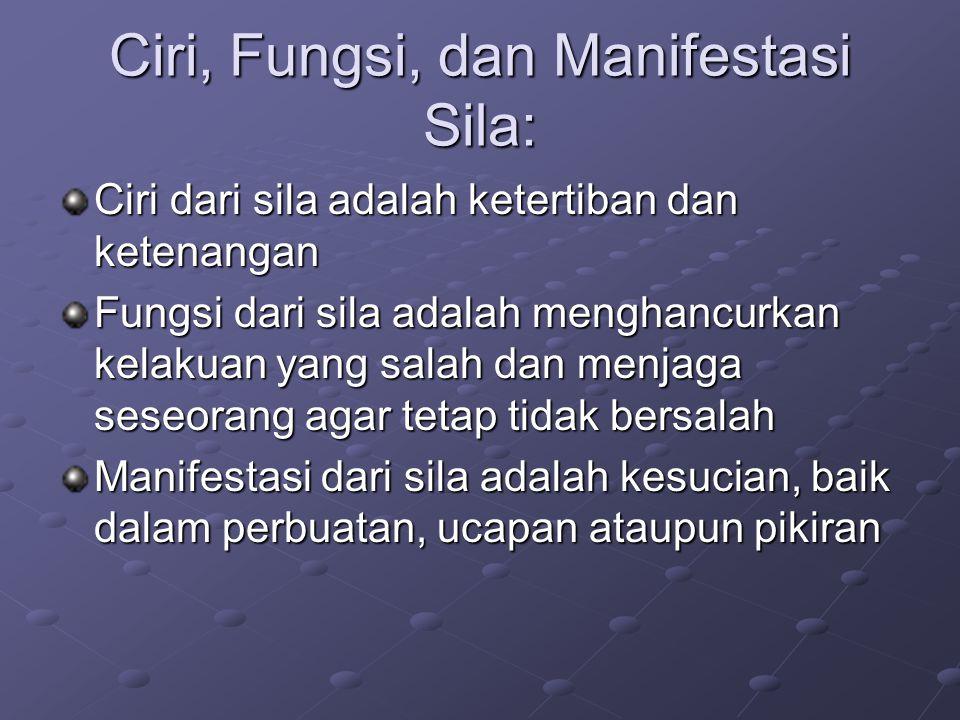 Ciri, Fungsi, dan Manifestasi Sila: