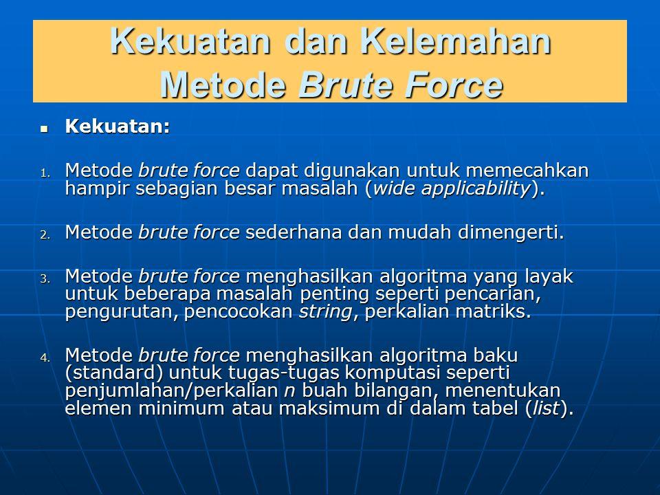 Kekuatan dan Kelemahan Metode Brute Force