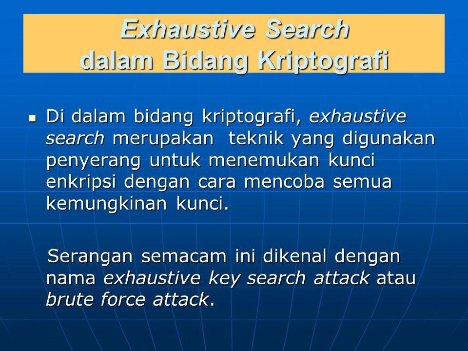 Exhaustive Search dalam Bidang Kriptografi