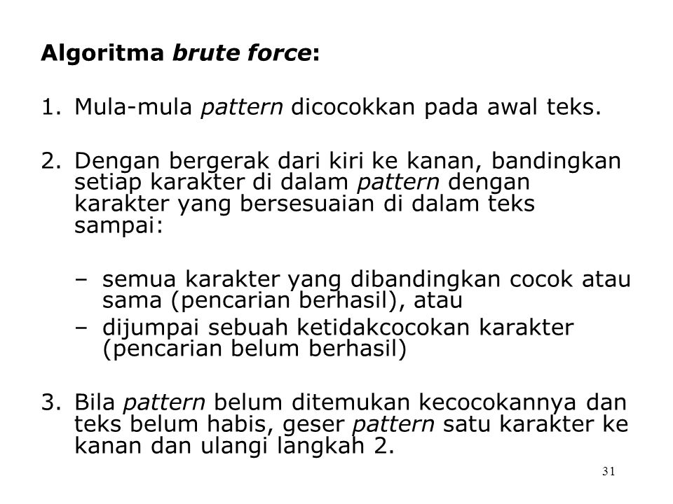 Algoritma brute force: