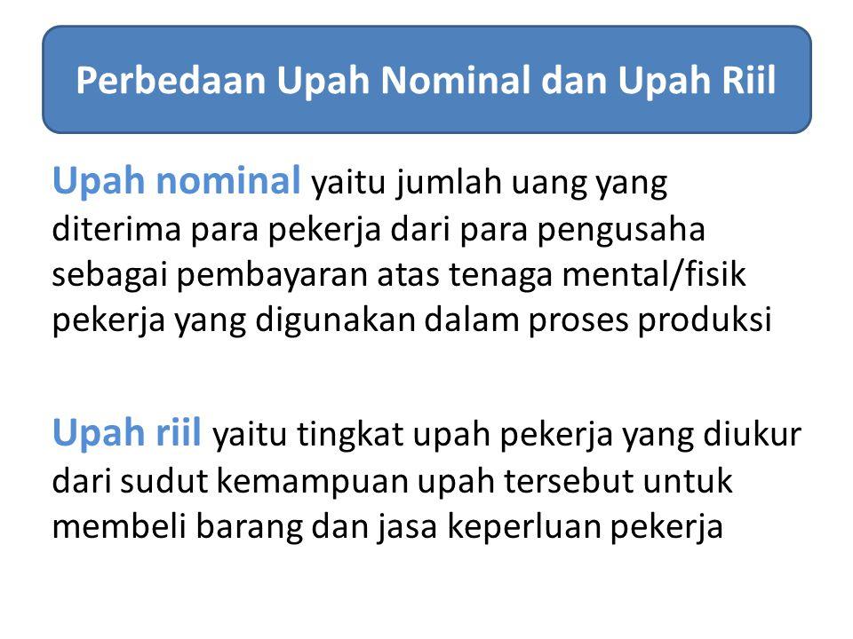 Perbedaan Upah Nominal dan Upah Riil