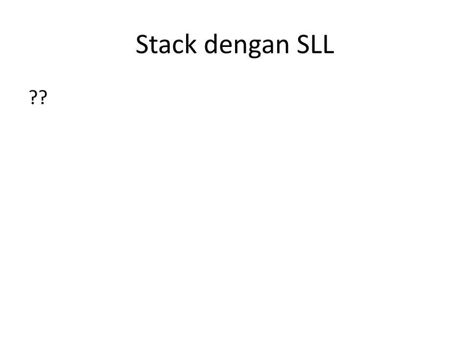 Stack dengan SLL