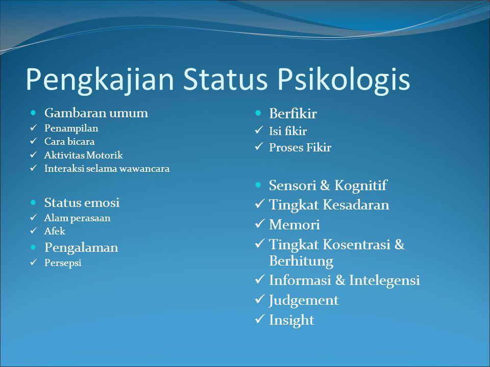 Pengkajian Status Psikologis