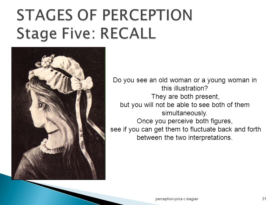 STAGES OF PERCEPTION Stage Five: RECALL