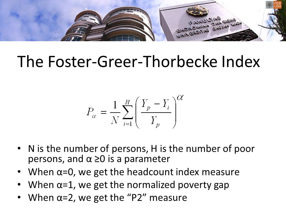 The Foster-Greer-Thorbecke Index