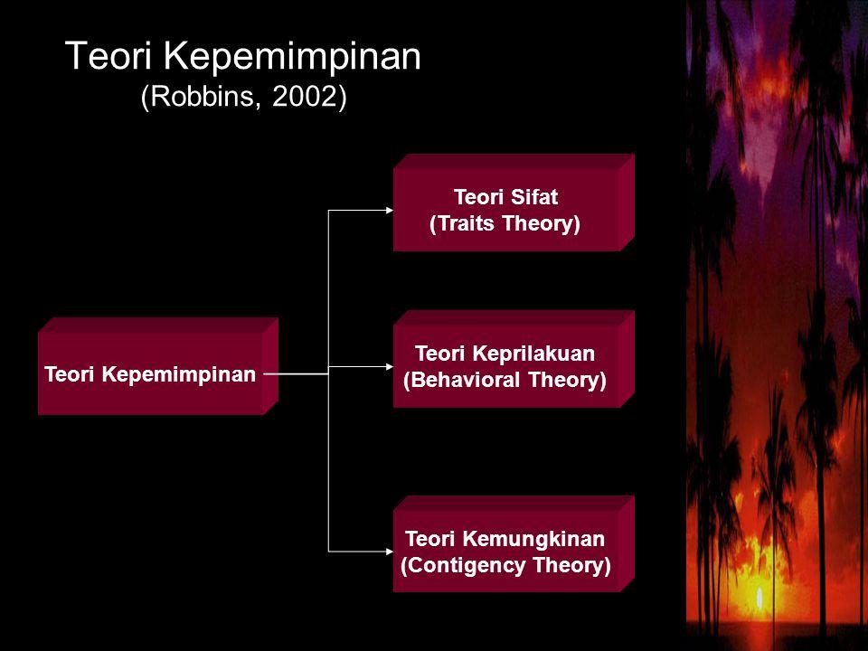 Teori Kepemimpinan (Robbins, 2002)
