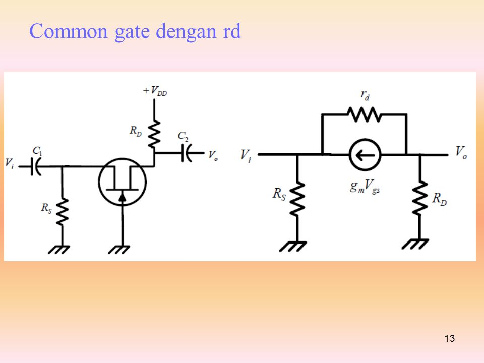 Common gate dengan rd