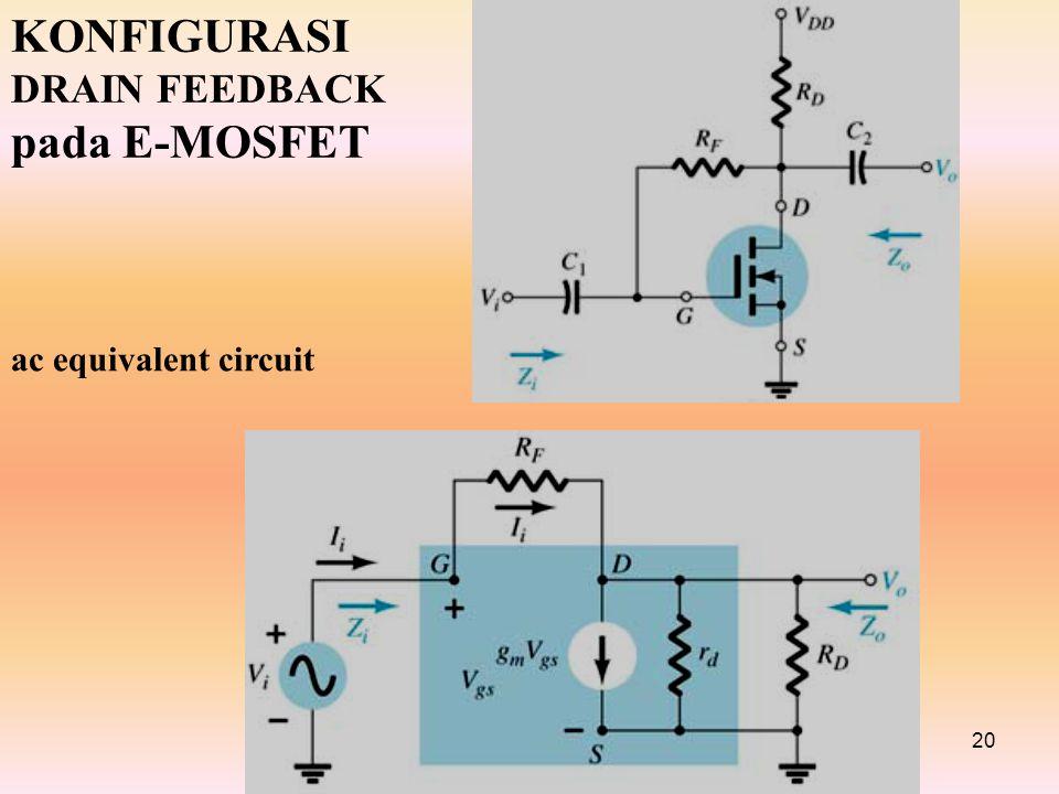 KONFIGURASI DRAIN FEEDBACK pada E-MOSFET