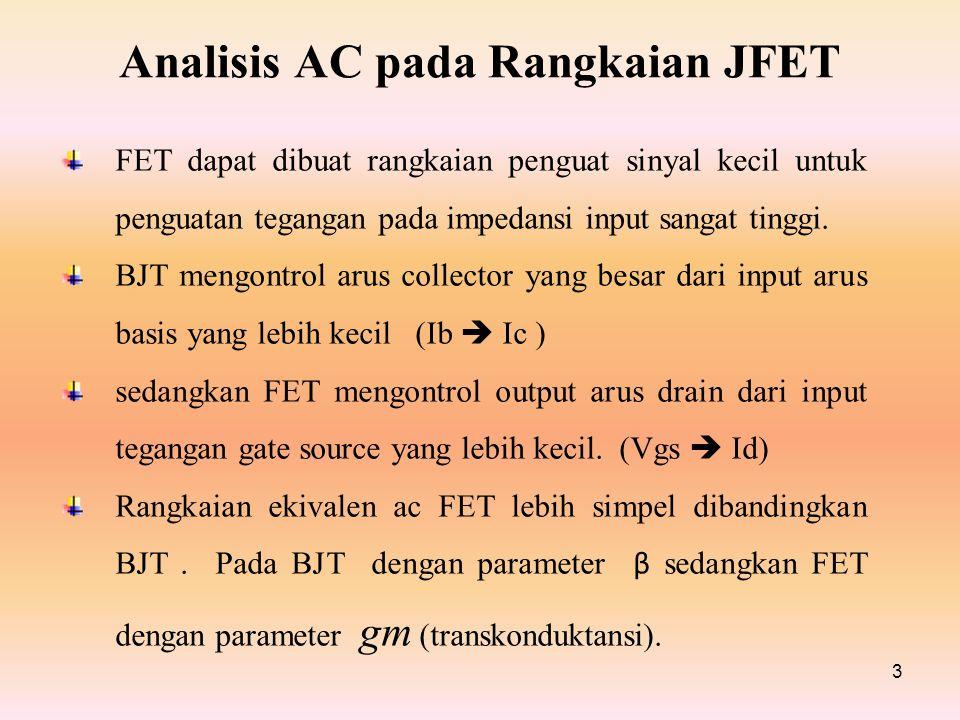 Analisis AC pada Rangkaian JFET