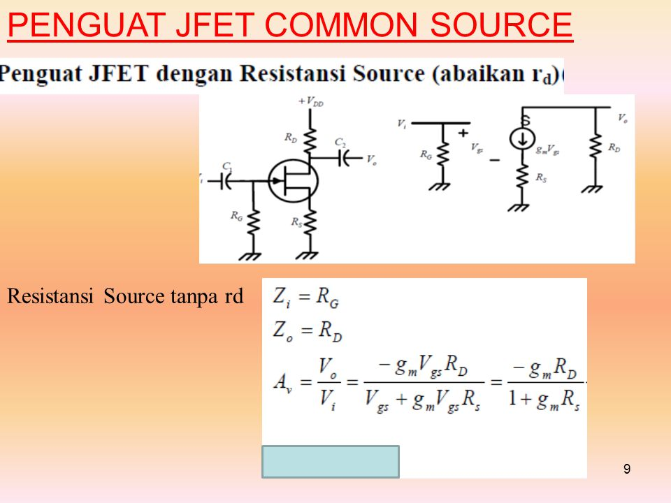 PENGUAT JFET COMMON SOURCE