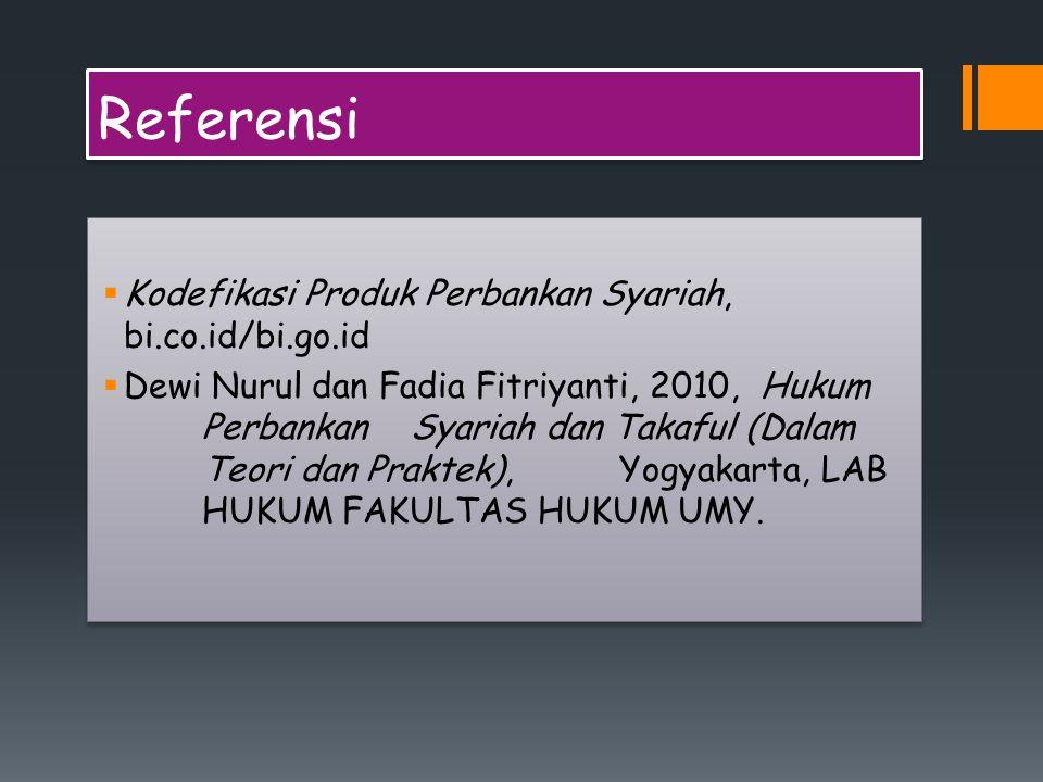 Referensi Kodefikasi Produk Perbankan Syariah, bi.co.id/bi.go.id