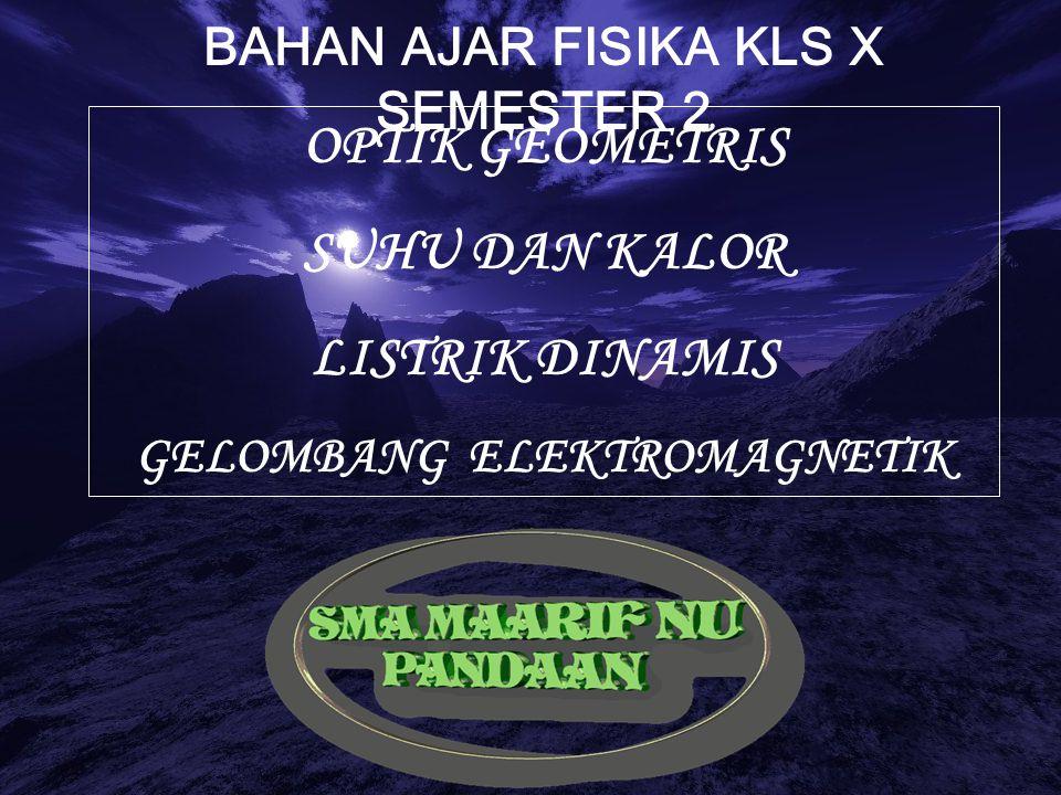 BAHAN AJAR FISIKA KLS X SEMESTER 2 GELOMBANG ELEKTROMAGNETIK