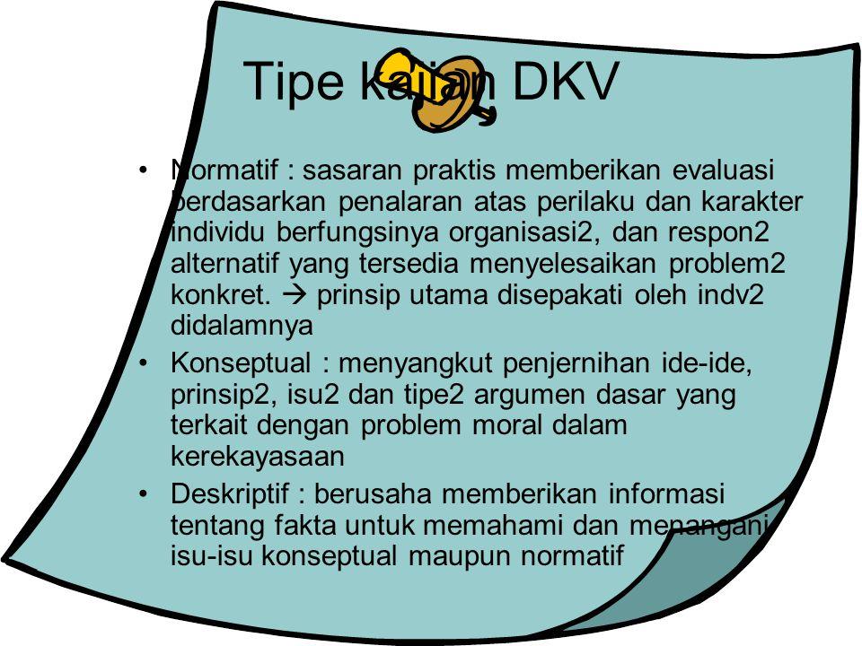 Tipe kajian DKV